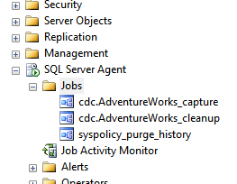 New CDC Jobs created under SQL Server Agent