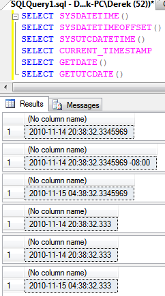 sql current date alternative